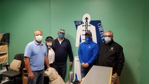 Adio Chiropractic Masks Donation