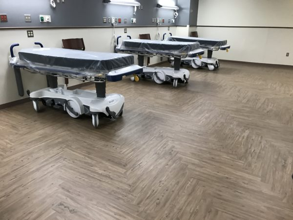 New flooring in medical facility