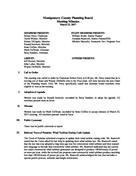 montgomery county planning board meeting minutes for march 23 2017